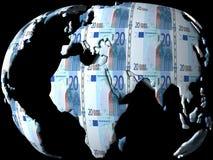 деньги глобуса Стоковая Фотография