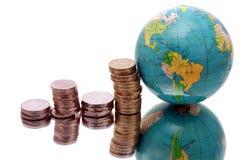 деньги глобуса Стоковая Фотография RF