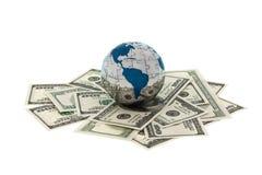 деньги глобуса Стоковые Изображения