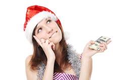 деньги девушки заботливые Стоковые Изображения RF
