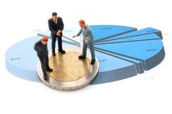 деньги диаграммы бизнесмена сверх Стоковая Фотография