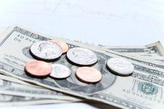 деньги диаграммы Стоковые Изображения RF