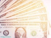 Деньги доллара на белой предпосылке Стоковые Фотографии RF