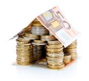 деньги дома евро Стоковые Фото