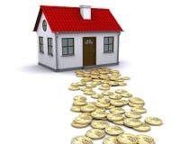 деньги дома к путю Стоковая Фотография RF