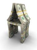 деньги дома принципиальной схемы Стоковая Фотография RF