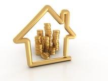 деньги дома иллюстрация вектора