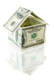 деньги дома Стоковая Фотография