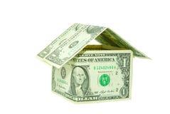 деньги дома Стоковые Изображения