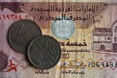 деньги Дубай стоковая фотография