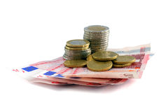 деньги европы Стоковые Изображения