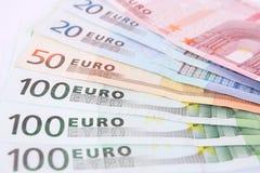деньги евро детали Стоковое Изображение RF