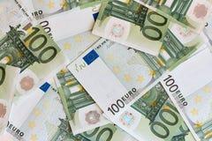 деньги евро кредиток 100 одних Стоковые Фотографии RF