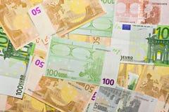 деньги евро кредиток предпосылки Стоковые Изображения RF