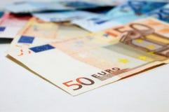 деньги евро кредиток Стоковые Изображения RF