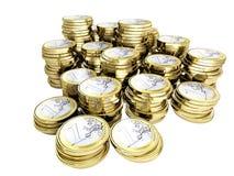деньги евро монетки 3d иллюстрация штока