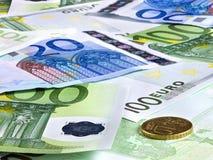 деньги евро предпосылки Стоковое Изображение