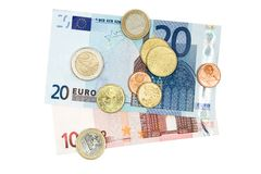 деньги евро Стоковое Изображение RF