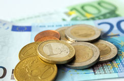 Деньги евро Стоковая Фотография