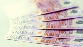 деньги евро 500 Стоковые Изображения