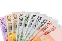 деньги евро Стоковые Фотографии RF