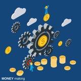Деньги делая концепцию вектора бесплатная иллюстрация