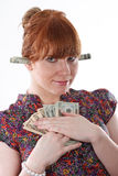 деньги жадности Стоковое Изображение RF