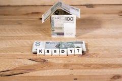 Деньги займа - польская валюта стоковая фотография rf