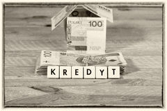 Деньги займа - польская валюта стоковое изображение rf