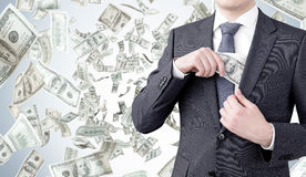 Деньги заработка Стоковые Фото