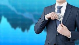 Деньги заработка Стоковая Фотография RF