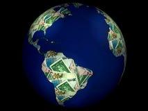 деньги земли Стоковое Изображение
