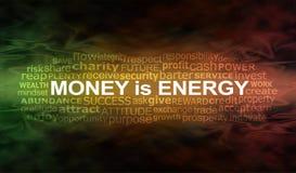 Деньги знамя облака слова энергии Стоковые Фото
