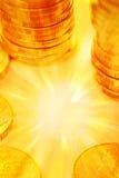 деньги золота предпосылки Стоковое фото RF