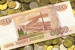 Деньги, изменение, пенни, бумажные деньги Стоковые Изображения RF