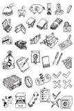 деньги иконы руки притяжки собрания Стоковое Изображение