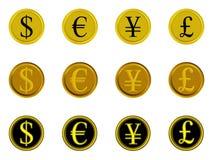 деньги иконы 02 кнопок иллюстрация вектора