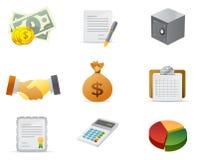 деньги иконы 2 финансов Стоковая Фотография