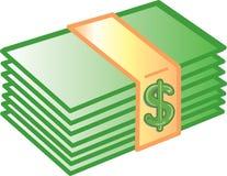 деньги иконы Стоковые Изображения RF