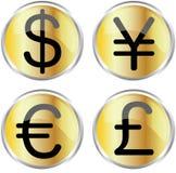 деньги икон Стоковое Фото