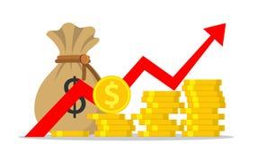 Деньги или бюджет выгоды иллюстрация штока