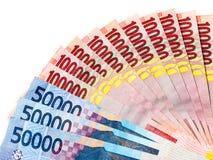 Деньги индонезийской рупии Стоковая Фотография