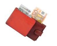 Деньги и бумажники Стоковые Фото