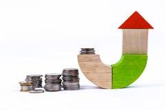 Деньги и дом Стоковые Изображения RF