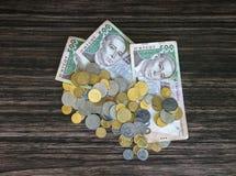 Деньги и пенни Стоковое фото RF