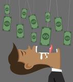 Деньги и приманка бизнесмена бесплатная иллюстрация