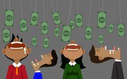 Деньги и приманка бизнесмена иллюстрация вектора