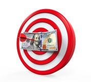 Деньги и дротики стоковые изображения
