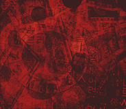 деньги китайца характеров предпосылки астрологии стоковая фотография rf