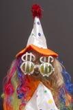 деньги клоуна голодные Стоковая Фотография RF